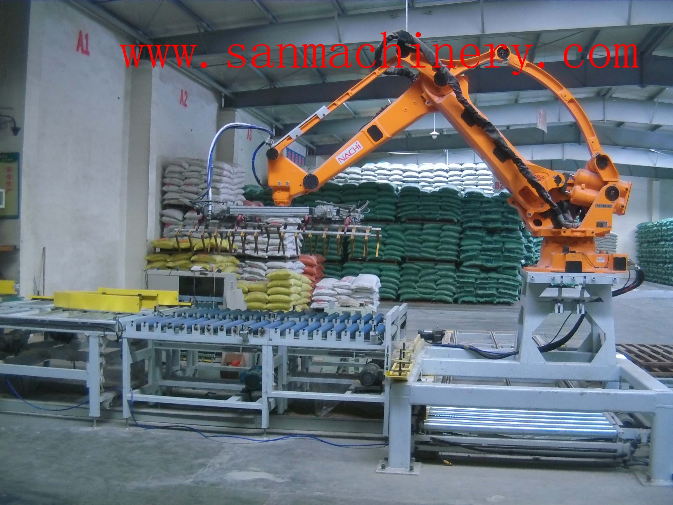 Automatic Robot Palletizing